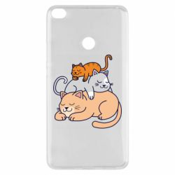 Чехол для Xiaomi Mi Max 2 Sleeping cats