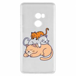 Чехол для Xiaomi Mi Mix 2 Sleeping cats