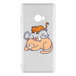 Чехол для Xiaomi Mi Note 2 Sleeping cats