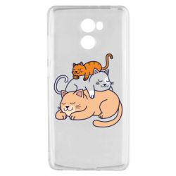 Чехол для Xiaomi Redmi 4 Sleeping cats