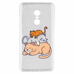 Чехол для Xiaomi Redmi Note 4 Sleeping cats