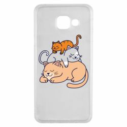 Чехол для Samsung A3 2016 Sleeping cats