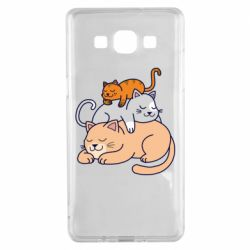 Чехол для Samsung A5 2015 Sleeping cats