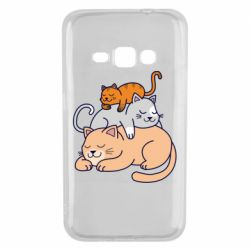 Чехол для Samsung J1 2016 Sleeping cats