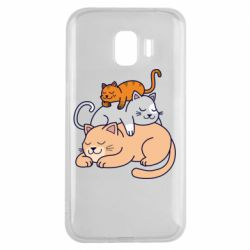 Чехол для Samsung J2 2018 Sleeping cats