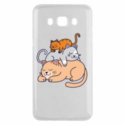 Чехол для Samsung J5 2016 Sleeping cats