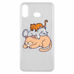 Чехол для Samsung A6s Sleeping cats