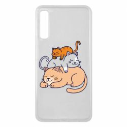 Чехол для Samsung A7 2018 Sleeping cats