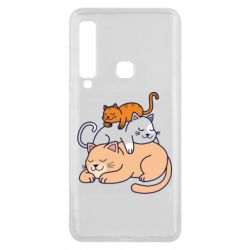 Чехол для Samsung A9 2018 Sleeping cats