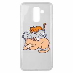 Чехол для Samsung J8 2018 Sleeping cats