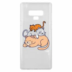 Чехол для Samsung Note 9 Sleeping cats