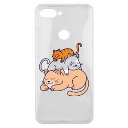 Чехол для Xiaomi Mi8 Lite Sleeping cats