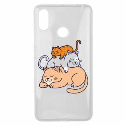 Чехол для Xiaomi Mi Max 3 Sleeping cats