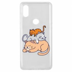 Чехол для Xiaomi Mi Mix 3 Sleeping cats