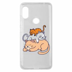 Чехол для Xiaomi Redmi Note 6 Pro Sleeping cats