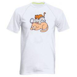 Чоловіча спортивна футболка Sleeping cats