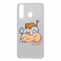 Чехол для Samsung A60 Sleeping cats