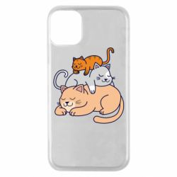 Чехол для iPhone 11 Pro Sleeping cats