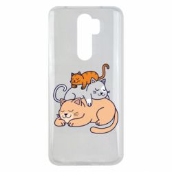 Чехол для Xiaomi Redmi Note 8 Pro Sleeping cats