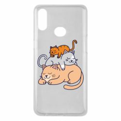 Чехол для Samsung A10s Sleeping cats