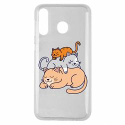 Чехол для Samsung M30 Sleeping cats