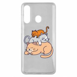 Чехол для Samsung M40 Sleeping cats