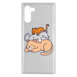 Чехол для Samsung Note 10 Sleeping cats