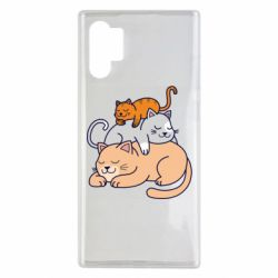 Чехол для Samsung Note 10 Plus Sleeping cats