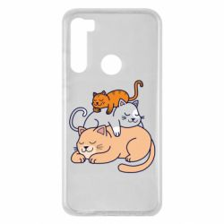 Чехол для Xiaomi Redmi Note 8 Sleeping cats