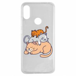 Чехол для Xiaomi Redmi Note 7 Sleeping cats