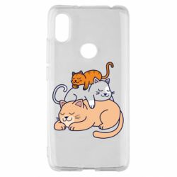 Чехол для Xiaomi Redmi S2 Sleeping cats