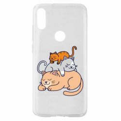 Чехол для Xiaomi Mi Play Sleeping cats