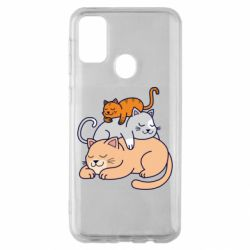 Чехол для Samsung M30s Sleeping cats