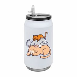 Термобанка 350ml Sleeping cats
