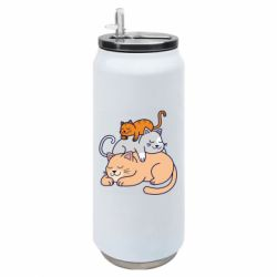 Термобанка 500ml Sleeping cats