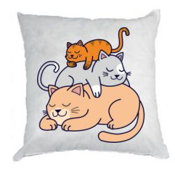 Подушка Sleeping cats