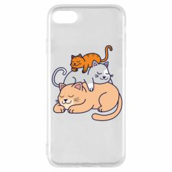 Чехол для iPhone 7 Sleeping cats