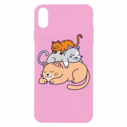 Чехол для iPhone X/Xs Sleeping cats