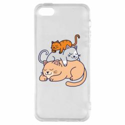 Чехол для iPhone5/5S/SE Sleeping cats