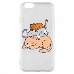 Чехол для iPhone 6/6S Sleeping cats