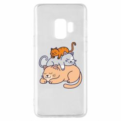 Чехол для Samsung S9 Sleeping cats
