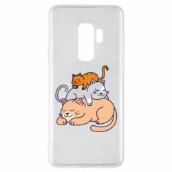Чехол для Samsung S9+ Sleeping cats