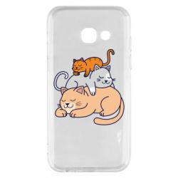 Чехол для Samsung A3 2017 Sleeping cats