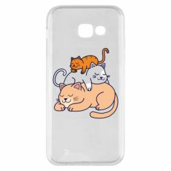 Чехол для Samsung A5 2017 Sleeping cats
