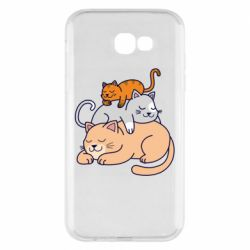 Чехол для Samsung A7 2017 Sleeping cats