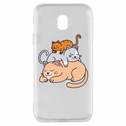 Чехол для Samsung J3 2017 Sleeping cats