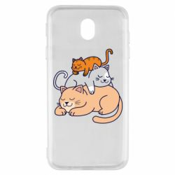 Чехол для Samsung J7 2017 Sleeping cats