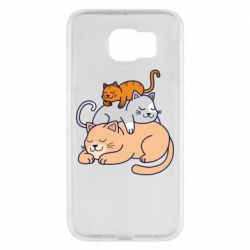 Чехол для Samsung S6 Sleeping cats
