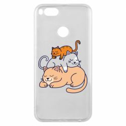 Чехол для Xiaomi Mi A1 Sleeping cats