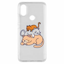 Чехол для Xiaomi Mi A2 Sleeping cats